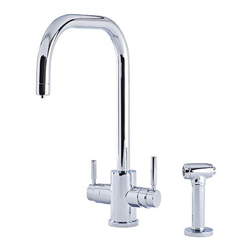 1714 Perrin & Rowe Phoenix 3-in-1 Instant Hot Water Kitchen Mixer Tap With U-Spout and Rinse