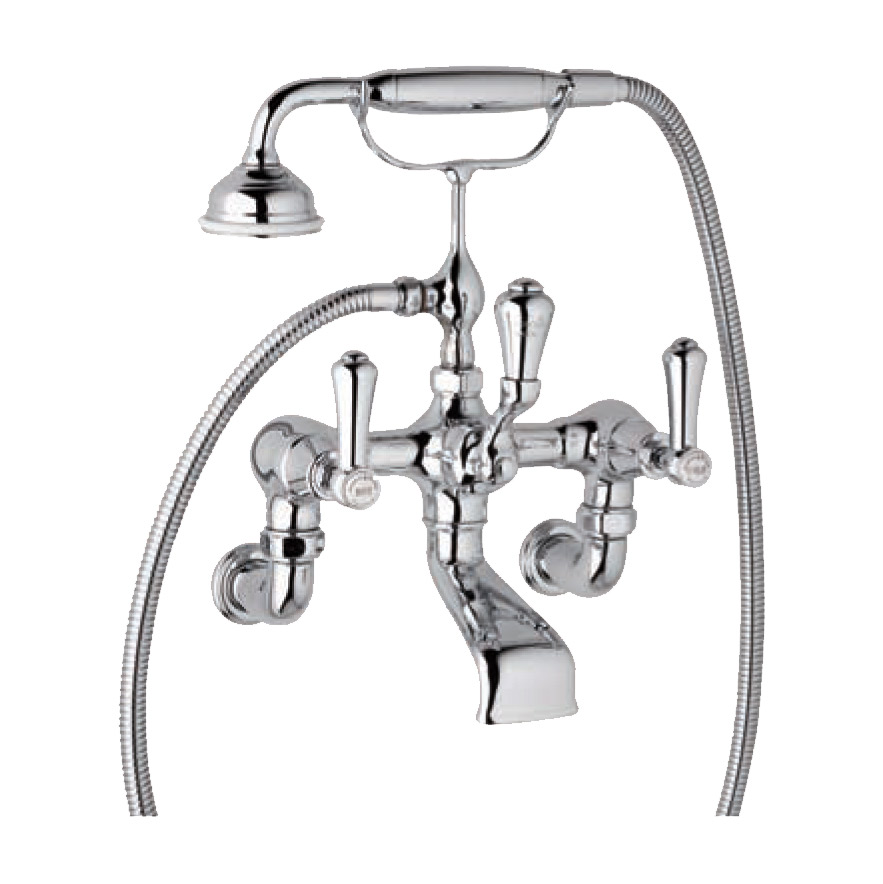 3006 1 Perrin & Rowe Wall Mounted Bath Shower Mixer Tap With Lever ...