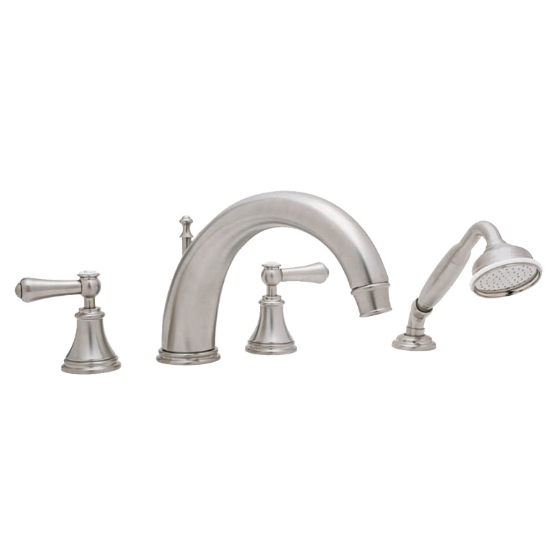 3648 Perrin & Rowe 4-hole Deck Mounted 10 inch Bath Tap Set