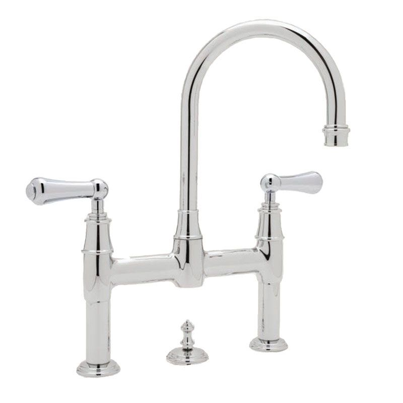 perrin and rowe. 3708 Perrin \u0026 Rowe 3-hole Deck Mounted Bridge Mixer Tap With Pop-Up And Lever Handles