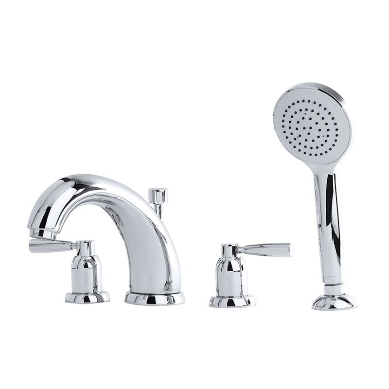 "3845 Perrin & Rowe 7"" Four Hole Bath Tap Set Lever"