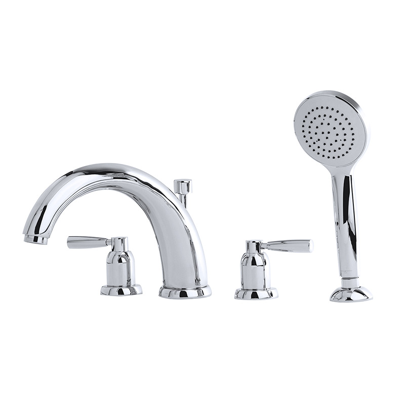 "3848 Perrin & Rowe 10"" Four Hole Bath Tap Set Lever"