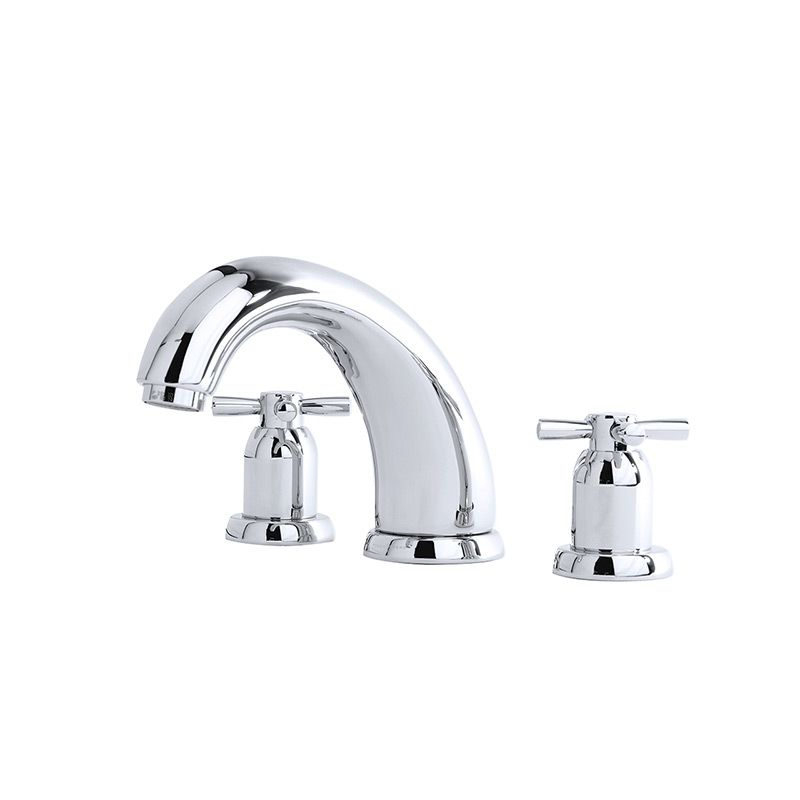 "3856 Perrin & Rowe 7"" Three Hole Bath Tap Set Crosshead"