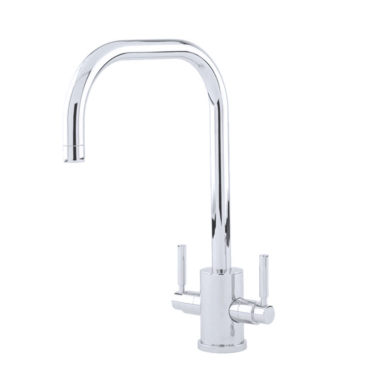 4214 Perrin & Rowe Orbiq Monobloc Sink Mixer Tap U Spout with Lever Handles