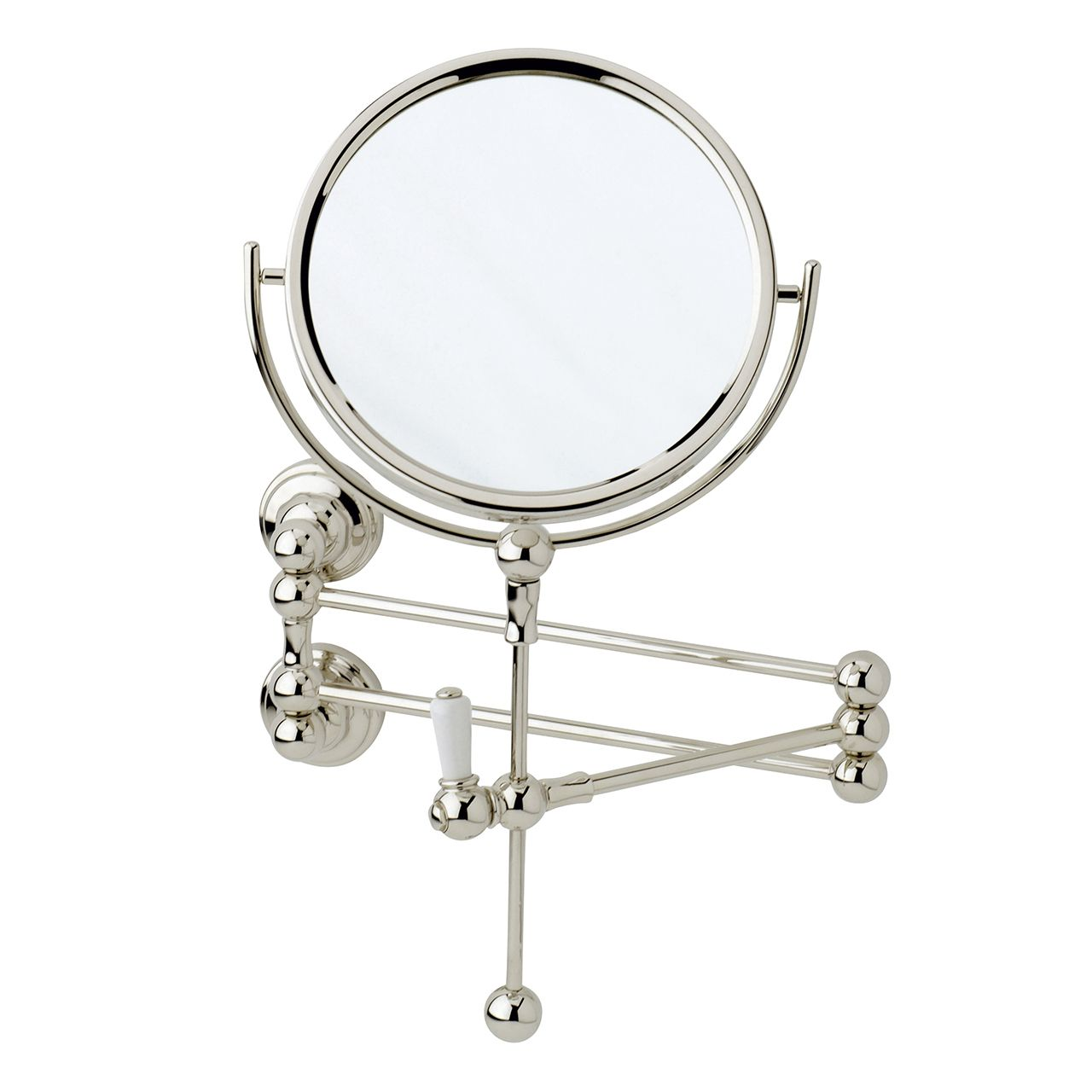 6918 perrin rowe wall mounted shaving mirror just perrin Traditional bathroom accessories chrome