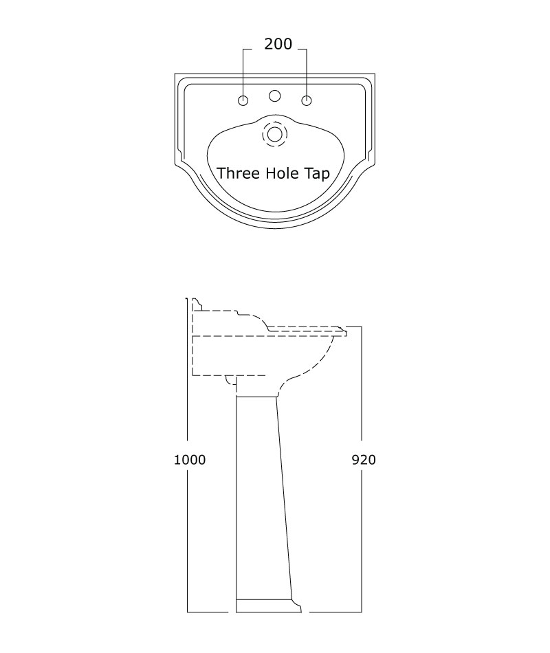 Technical drawings for Products 2903 and 2904